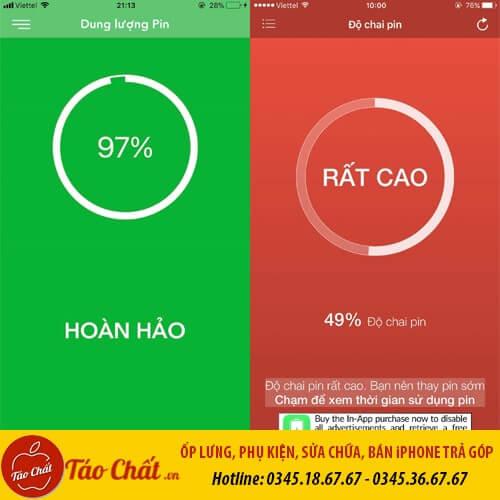 Độ Chai Pin Của iPhone Taochat.vn