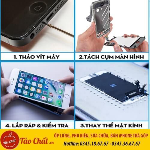 Quy Trình Ép Kính iPhone Taochat.vn