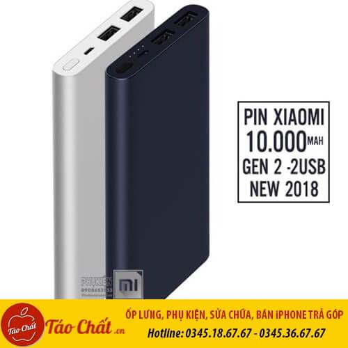 Sạc Dự Phòng Xiaomi Gen 2 10.000 mAh Táo Chất.Vn