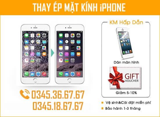 Thay Ép Mặt Kính iPhone Đà Nẵng Chính Hãng Taochat.vn
